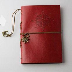carnet bloc note de voyage rouge