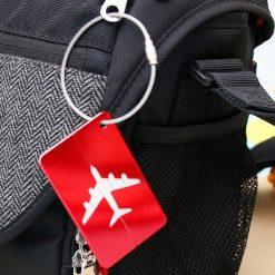 Étiquette bagage aluminium Avion porté
