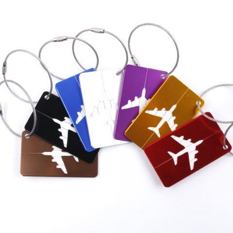Étiquette bagage aluminium Avion