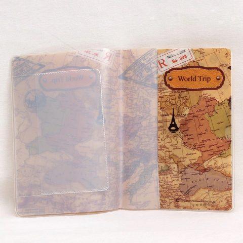Protège passeport globe trotteur