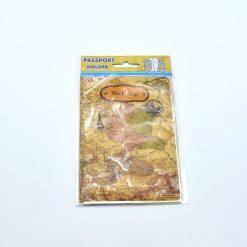 Protège passeport globe trotteur marron