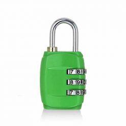 cadenas pour bagages à 3 chiffres vert