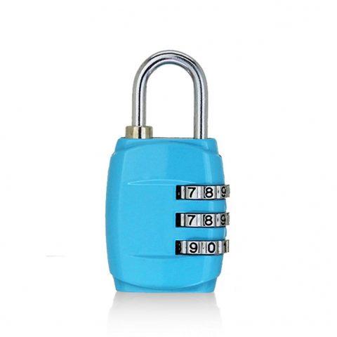 cadenas pour bagages à 3 chiffres bleu