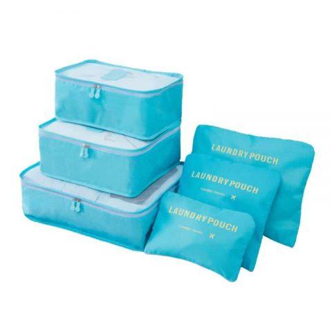 Organisateur de valise 6 pièces bleu