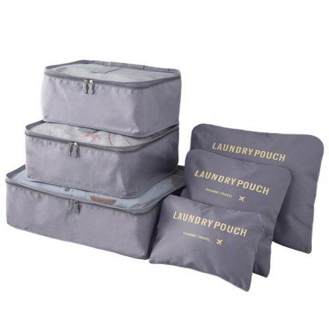 Organisateur de valise 6 pièces gris