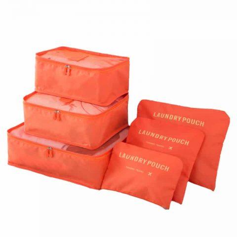 Organisateur de valise 6 pièces orange