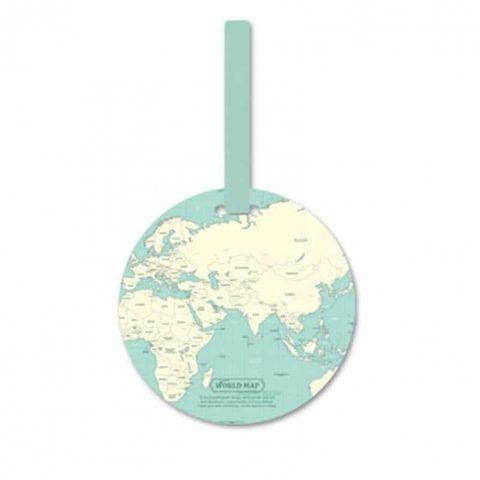 Étiquette de bagage globe-trotteur