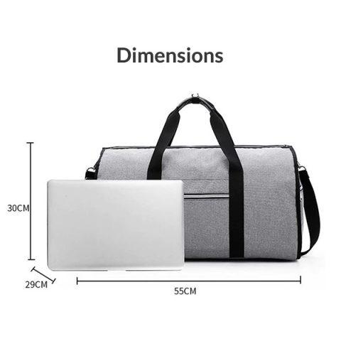 Sac de voyage 2 en 1 dimensions
