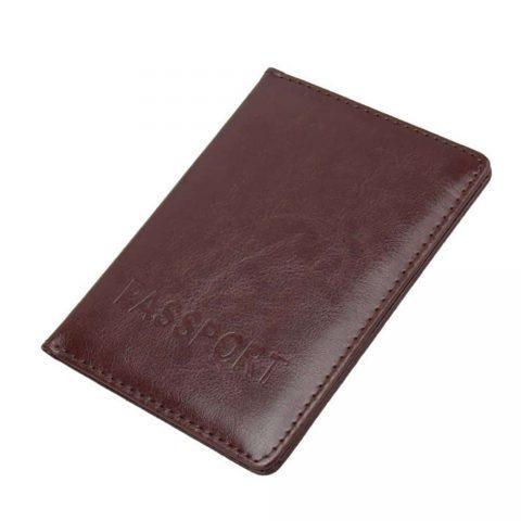 Protège passeport KuDian Bear marron foncé