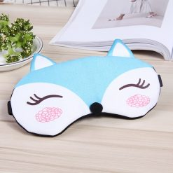 Masque de sommeil renard bleu