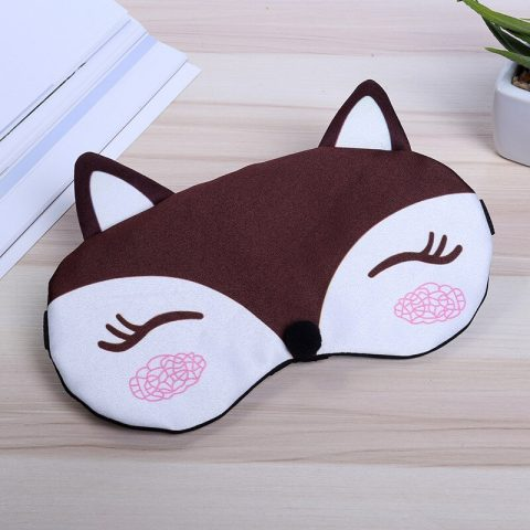 Masque de sommeil renard marron