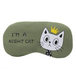 Masque de sommeil I'm a night cat vert