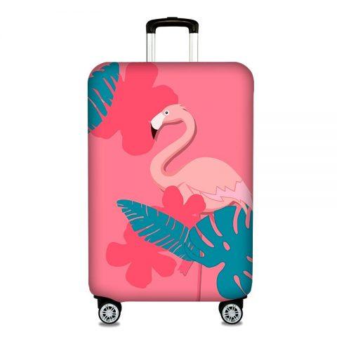housses de protection pour valises flamant rose