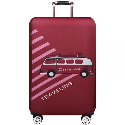 housses de protection pour valises travelling rouge
