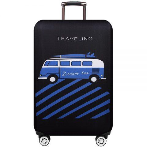 housses de protection pour valises travelling noire