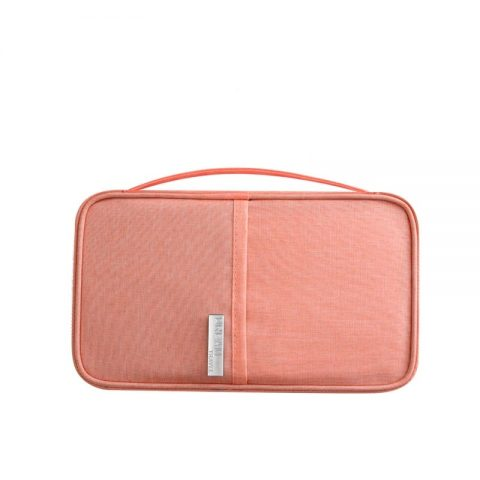 Porte-document de voyage familial rose