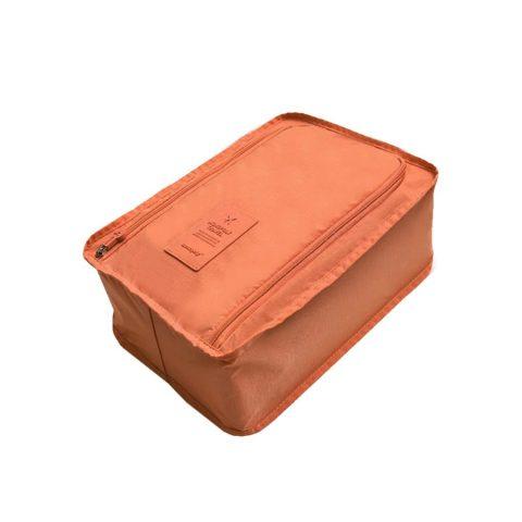 Sac à chaussures de voyage en nylon orange
