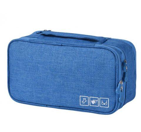 Organisateur de voyage pour sous-vêtements bleu clair