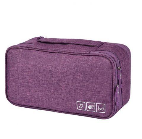 Organisateur de voyage pour sous-vêtements violet