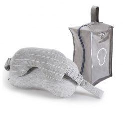 Kit de voyage tout confort gris clair