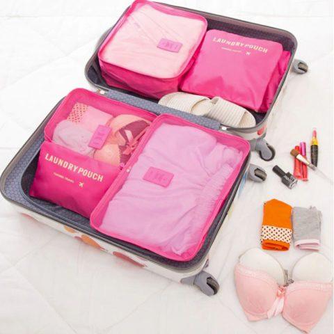 Organisateur de valise 6 pièces