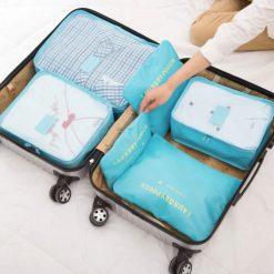 Organisateur de valise 6 pièces dans valise