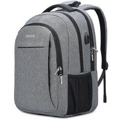 sac à dos multifonction grande capacité gris clair